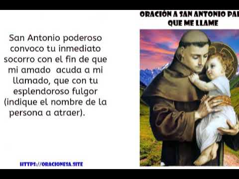 Oracion A San Antonio Para Que Me Llame En 10 Minutos Youtube