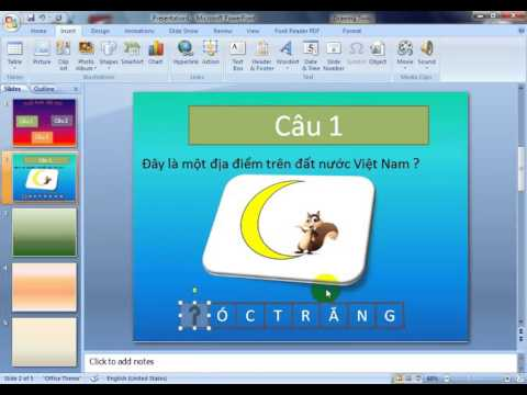 powerpoint-đuổi hình bắt chữ trong powerpoint