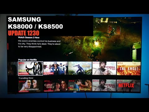How To Update Your Samsung TV Via USB KS8500 / KS8000 1230 Update