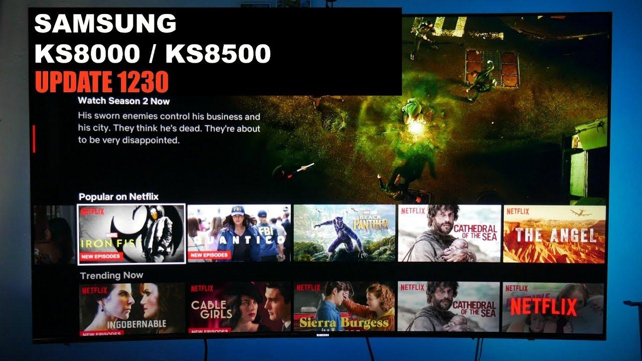 How to update your Samsung TV via USB KS8500 / KS8000 1230 update