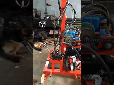 gas engine hydraulic drilling rig made by sunmoy