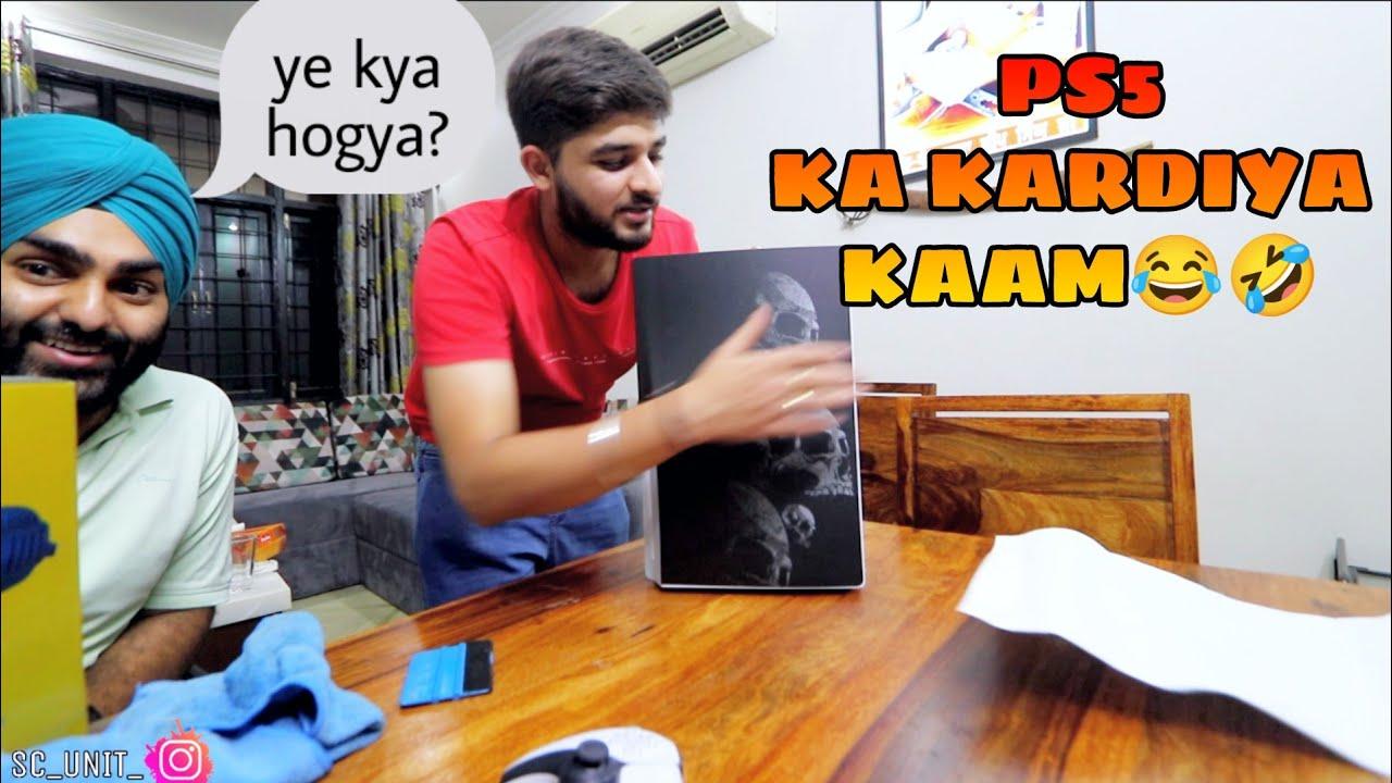 New Look PS5 ka KARDIYA KAAM😳 Harsimran Pajji Hogaye Heran😳