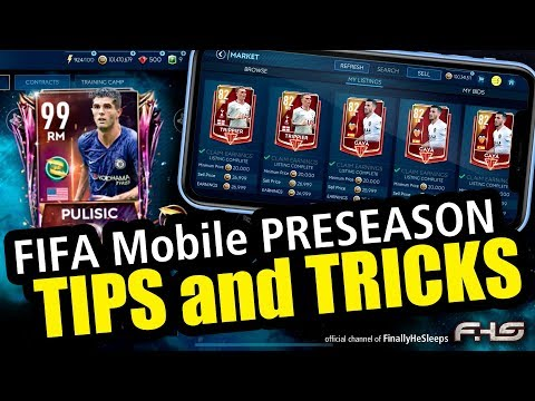 FIFA Mobile - TIPS & TRICKS For PRESEASON - Ranking Up, Legacy Squad, Market Advice And More