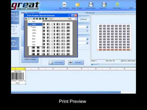 Printing Barcodes on Labels(Avery,Apli etc)