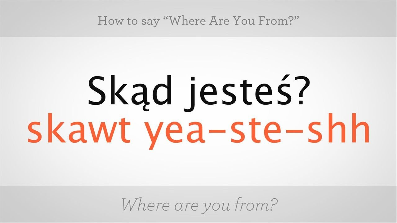 how to say you re welcome in polish