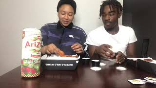 Blazing hot wing challenge pt2 🔥guess who wins