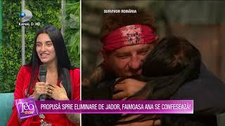 Teo Show - Propusa spre eliminare de Jador, FAIMOASA ANA se confeseaza! Ce a avut de reprosat?