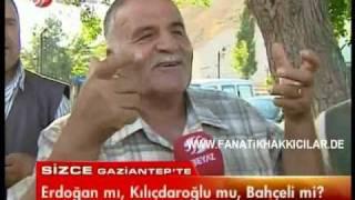 HALK-RECEP TAYYIP ERDOGAN TÜRKIYENIN UMUDU TÜRKÜOLA MINARECI-Gaziantep-Beyaz Tv-3