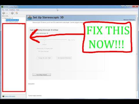 How to fix your Nvidia Control Panel! - YouTube