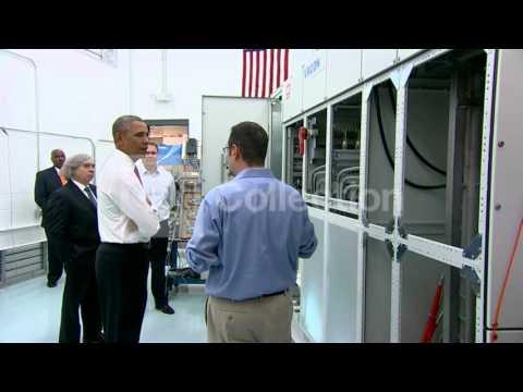 NC:OBAMA TOURS ELECTRIC MOTORS PLANT