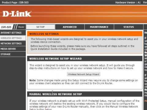 Tutorial - Configuração DIR-505 D-Link - Wireless WPA