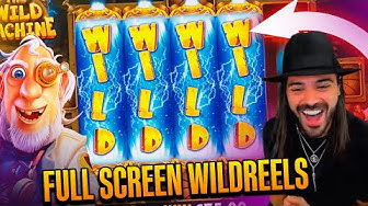 ROSHTEIN Full Screen Win  on The Wild Machine slot - TOP 5 Mega wins of the week