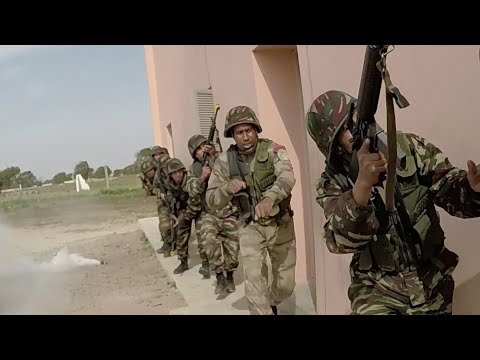 Moroccan Special Operations Forces Train With U.S. Marines