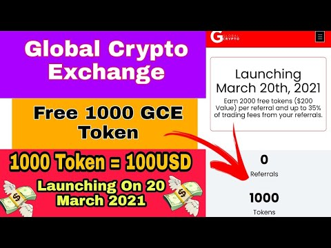 😱Global Crypto Exchange 100$ Airdrop! 1000 Free Tokens Value 100$ ! Per Reffer 2000 Token Value 200$