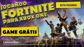 Playing FORTNITE Xbox ONE (free Game)-commented Gameplay
