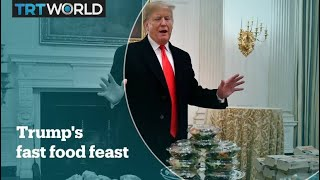 Trump serves fast food amid staff shortage in the White House