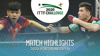 Feng Yi-Hsin Vs Joao Geraldo | 2020 ITTF Portugal Open Highlights (1/4)