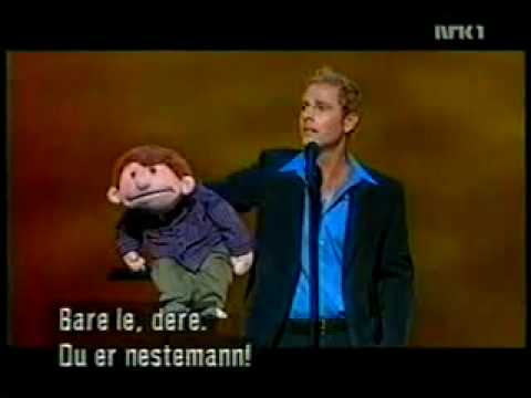 Paul Zerdin and Sam on Royal Variety Performance 2002