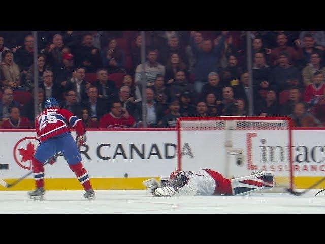 Sergei Bobrovsky robs de la Rose with blocker