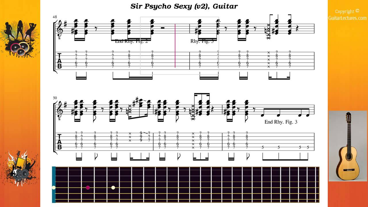 Sir Psycho Sexy V2 Red Hot Chili Peppers Guitar Youtube