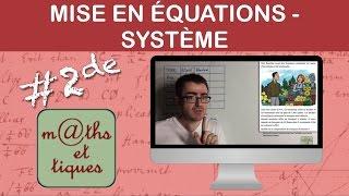 vuclip Mettre un problème en équations (Système) - Seconde