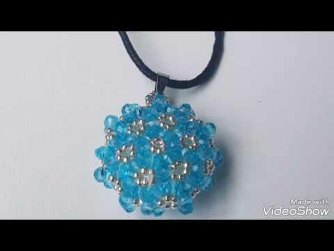Beaded pendant free tutorial / pendentif perles /cevşen yapımı DIY