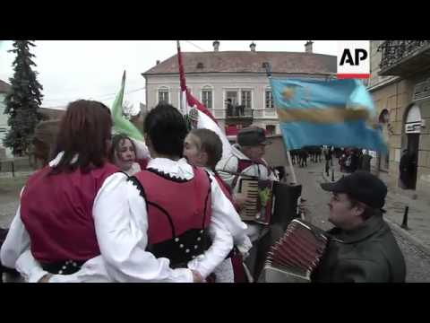 Ethnic Hungarians in Romania mark national day