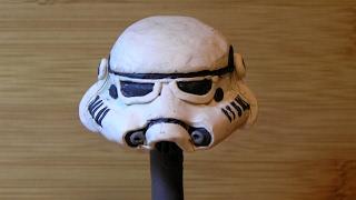 Шлем штурмовика. Как сделать из пластилина. Звездные войны