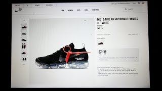 LIVE COP: What It Feels Like to Cop NIKE x OFF-WHITE VAPORMAXES! (IM SALTY!!)