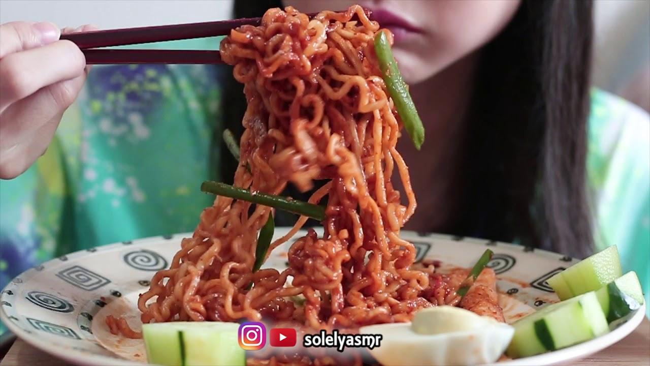 ASMR Samyang 4x MALA Spicy FIRE 🔥Noodles Challenge | Noodle Slurping | SOLELY ASMR