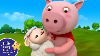Little Bo Peep Has Lost Her Sheep | Nursery Rhymes | by LittleBabyBum