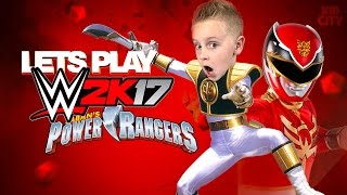 Let's Play WWE 2K17! Power Rangers Movie Team vs Team KIDCITY!