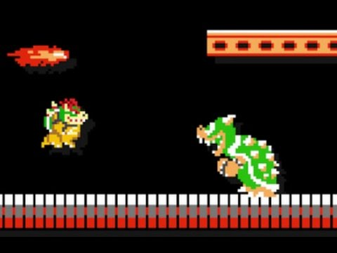 Super Mario Maker - 10 Mario Challenge Walkthrough Part 1 - Bowser Vs. Bowser