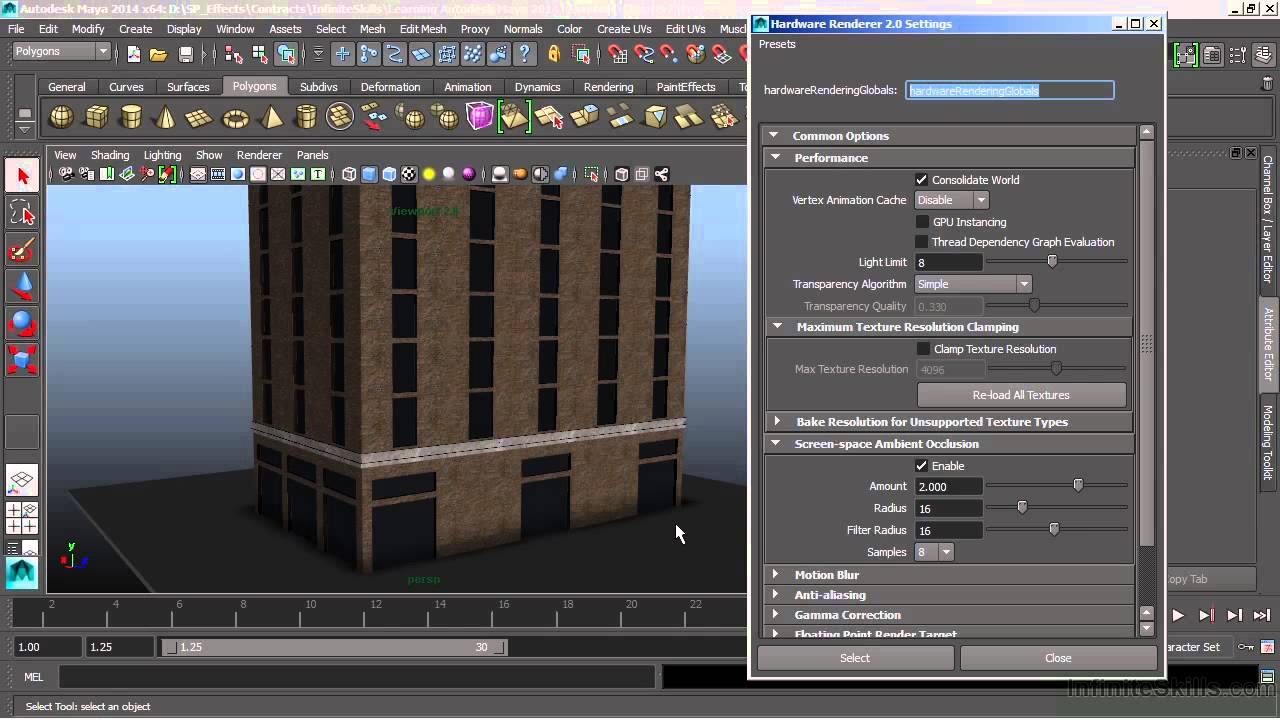 autodesk maya 2014 tutorial rendering youtube. Black Bedroom Furniture Sets. Home Design Ideas
