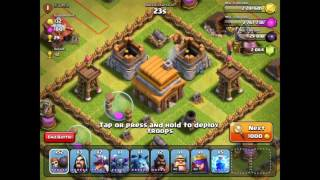 Clash of Clans  One Troop & Three Stars   Unusual Attacks of All Kinds   2016