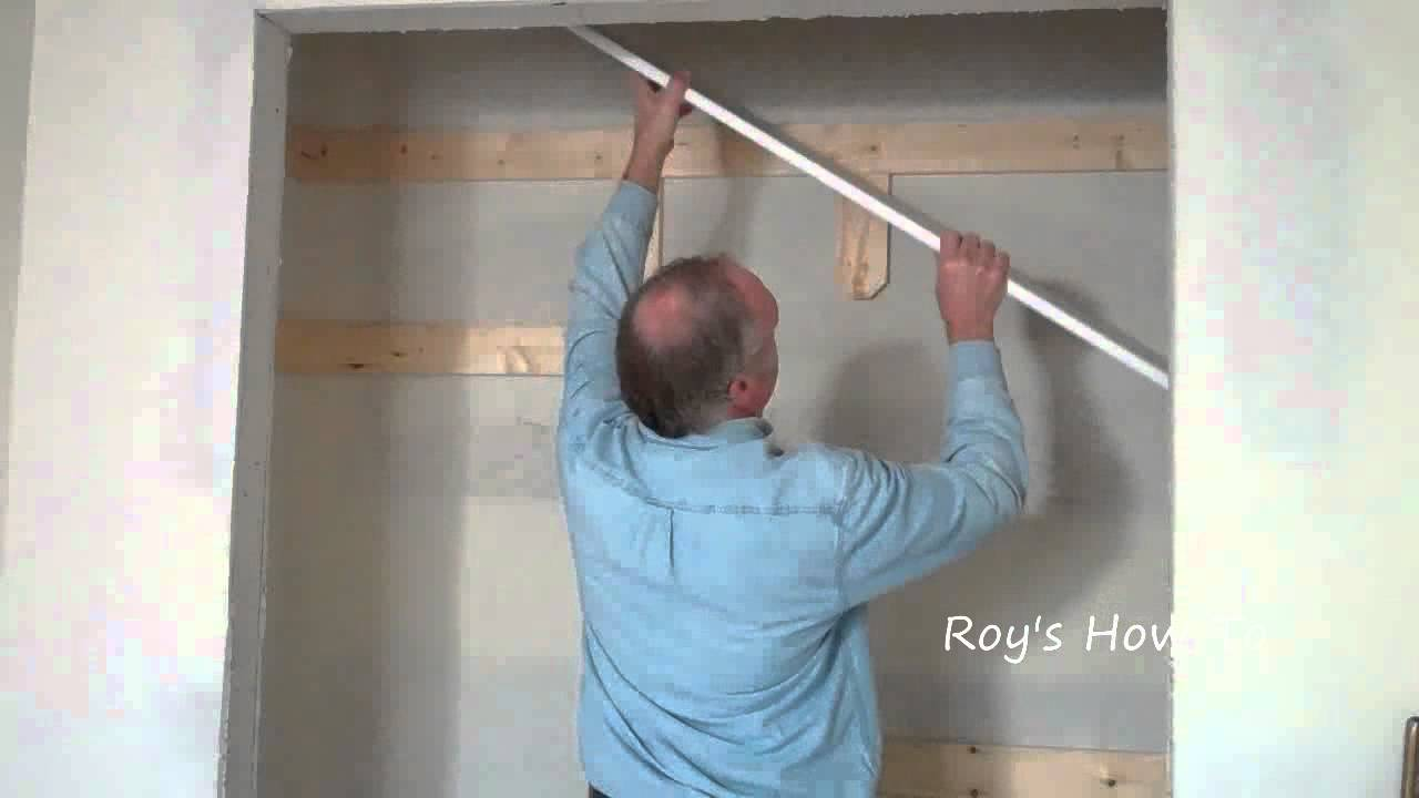 Marvelous How To Install Closet Shelves   YouTube