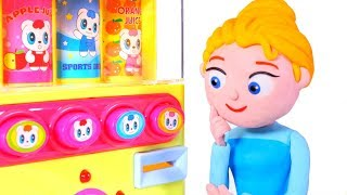 MOMMY NEEDS HELP WITH THE VENDING MACHINE ❤ SUPERHERO PLAY DOH CARTOONS FOR KIDS