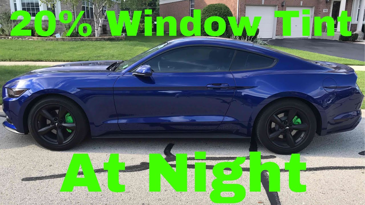 20 window tint at night youtube for 20 window tint at night
