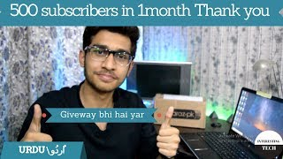 500 subscribers (giveway) in 1 months thank you guys