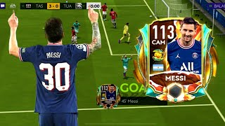 LIONEL MESSI 113 RATED REVIEW \u0026 GAMEPLAY   H2H \u0026 VSA   FIFA MOBILE 21