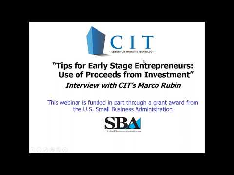 Tips for Entrepreneurs -  Use of Investment Proceeds