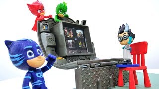 Герои в масках - Мультики с игрушками - Кэтбой, Гекко и Алетт