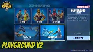 """Fortnite """"Playground"""" LTM Update Live - Fortnite Playground Gameplay"""