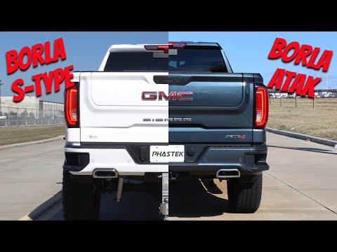 Borla GMC Sierra S-Type Exhaust Vs. Borla GMC Sierra ATAK Exhaust - Phastek