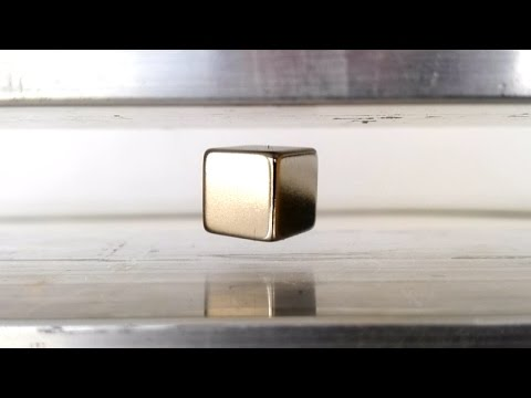 Induction Levitation, Levitating Neodymium Magnets