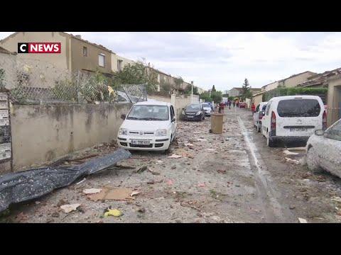 Une mini-tornade ravage un quartier de la ville d'Arles