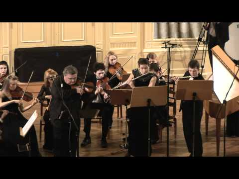 J.S. Bach - Brandenburg concerto No. 4 G-dur for two flutes, violin and strings, BWV 1049 - I