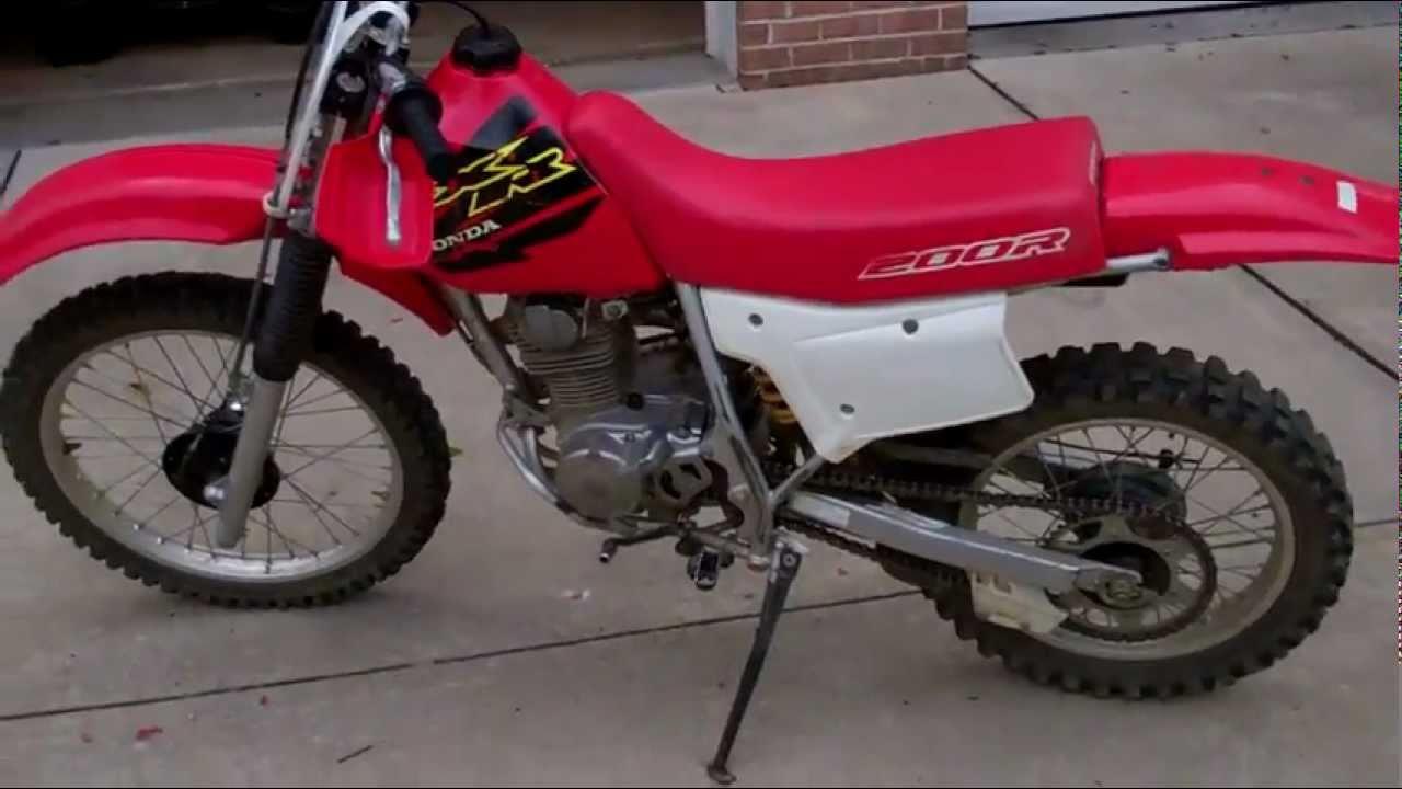 2000 HONDA XR200R - YouTube