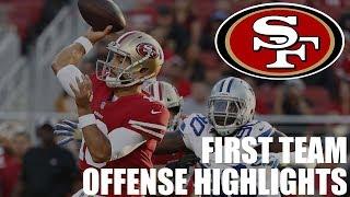 San Francisco 49ers First Team Offense Highlights vs. Dallas Cowboys | NFL Preseason