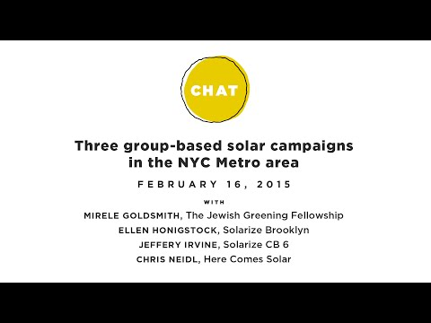 HCS Chat: Lessons from three group-based solar campaigns in the NYC Metro area